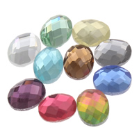 Faceted Glass Cabochon