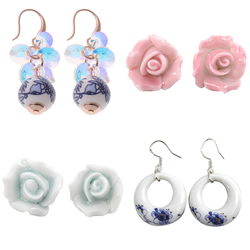Porcelain Jewelry Earring