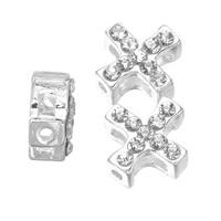 Zinc Alloy Alphabet Beads