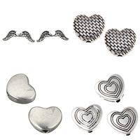 Zinc Alloy Heart Beads