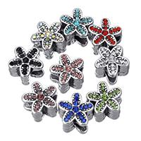 Rhinestone Zinc Alloy European Beads