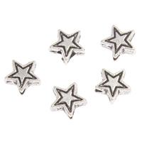 Zinc Alloy Star Beads