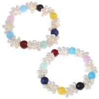Gemstone Pearl Bracelets