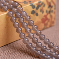 Natural Grey Agate Beads