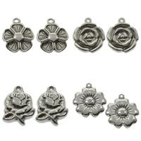 Stainless Steel Flower Pendant