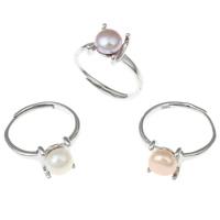 Pearl Brass Finger Ring