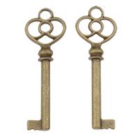 Zinc Alloy Key Pendants