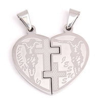 Stainless Steel Couple Pendant