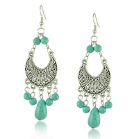 Turquoise Zinc Alloy Earring
