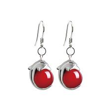Sterling Silver Agate Drop earring