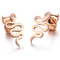 Stainless Steel Rhinestone Stud Earring