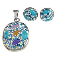 Turquoise Stainless Steel Jewelry Sets